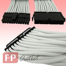 GELID Cable 24-Pin 12V ATX EPS PSU Power Cord 18 AWG Quality Single Sleeve White