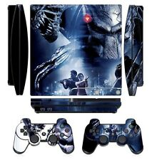Aliens 257 Skin Sticker Cover for PS3 PlayStation 3 Slim and 2 controller skins