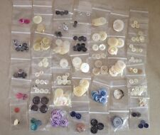 HUGE Vintage Mixed Lot Genuine Natural Mother of Pearl Two Four Hole Buttons