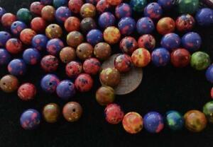Vintage 8mm Mottled Lucite Base Beads Mix Japan 40