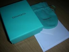 Set -  Tiffany & Co. authentic small blue box + pouch + ribbon + card GIFT new!