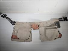 SEARS CRAFTSMAN Professional Heavy Duty Leather CARPENTER TOOL BELT Pockets