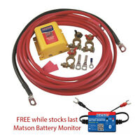 Matson Dual Battery 12 volt Kit with VSR and FREE Battery Monitor