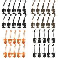 10X Molle Webbing Tactical Cord Clips Buckle Elastic Tiedown Strap-Carabin