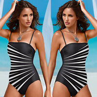 Women One-Piece Push Up Bikini Bandage Monokini Swimsuit Bathing Swimwear 6-14