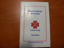 VCE Mathematical Methods Unit 1 Maths Secondary School Textbook Study Guide New