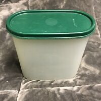 Tupperware Modular Mate Oval 1613-2 1613 With Green Lid 1616-23 1616 USA Vintage