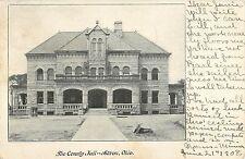 1908 The County Jail Building, Akron, Ohio Postcard