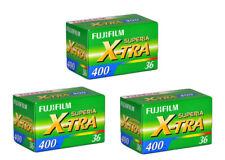 3 Rolls - Fuji Fujifilm Superia X-TRA 400  135-36  35mm 36exp Colour Print Film