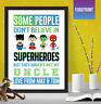Personalised FATHER'S DAY superhero print gift/DADDY/DAD/UNCLE keepsake A4/A3