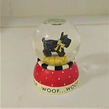 Adorable Mary Engelbreit Henry Scottie Glass Mini Snow Globe - 1998