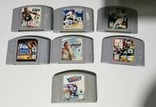 Lot of 7 Nintendo 64 Sports Games N64 Game Authentic Cartridges