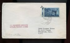 """Ship Cover """"SS President Harrison"""" 1952 with Paquebot, Singapore Cancel on US"""