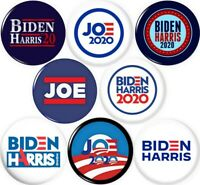 Joe Biden Kamala Harris 2020 8 NEW 1 Inch (25mm) Pinback Buttons Badges Pins BLM