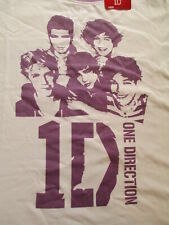 NWT One Direction Women Purple White Band 1D T Shirt Size L Large