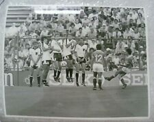 More details for press photo 1982 world cup-france's bernard genghini shoots & austrian wall