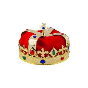 Deluxe Adult Royal Crown King Queen Fancy Dress Accessory