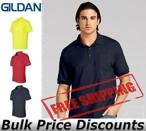 Gildan Mens Short Sleeve DryBlend Jersey Sport Shirt with Pocket 8900 up to 5XL