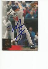 MATT LeCROY Autographed Signed 2001 Upper Deck card Minnesota Twins COA