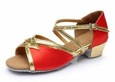 Ballroom heeled Salsa tango latin dance shoes children girls women kids 6 styles