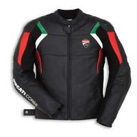 DUCATI Corse Motorbike Motorcycle Leather Jacket Green-White-Red