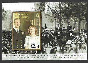 British Ind. Ocean 2007 Diamond Wedding of Queen Elizabeth II and Prince Philip