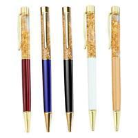 Colorful 0.5mm Gel Pen Magic Quicksand Pen Novelty LED Signature Pens Black Q4A8