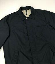 Men's Navy Blue Zegna S Sport Jacket XL Extra Large Microtene Waterproof Zip A/B
