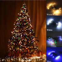 Christmas LED Fairy String Light Icicle Battery Xmas Tree Outdoor Garden Decor