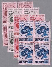 Serbien 54-7 I postfrischer Viererblocksatz