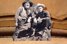 "Roy Rogers and Gabby Hayes Western Figure Tabletop Display Standee 8"" Tall"