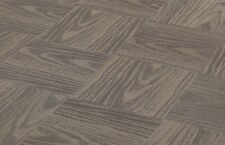 "CHILEWICH PLYNYL TILES Woodgrain Pecan 18"" X 18"" - No Adhesive Residue 20 Tiles"