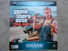 Grand Theft Auto V GTA V Online promotional game Display Poster advert RARE