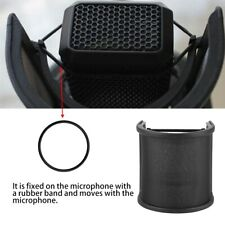 Studio Mikrofon Isolation Shield Aufnahme Windschutz  Filtermaske Absorber