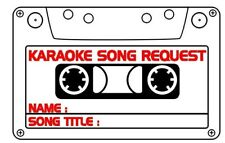 More details for karaoke song requests -1200 slips -  same day postage - free next day delivery