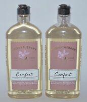 2 BATH & BODY WORKS AROMATHERAPY COMFORT VANILLA PATCHOULI WASH SHOWER GEL FOAM
