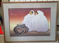 "RC Gorman ""Taos Traders"" Framed Lithograph Signed Limited Edition 130/224"