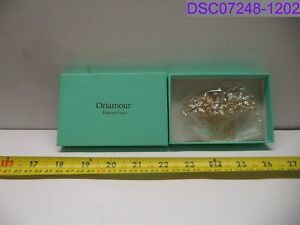 Oriamour Sparkly Bridal Hair Side Comb with Rhinestones Gold