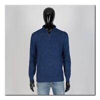 LORO PIANA 1895$ Super Soft Sweater In Dark Blue Cashmere & Silk