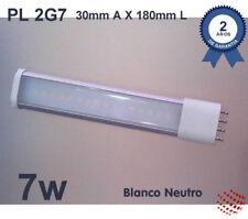 Lámpara Led PL 2G7 180mm, de 7W, blanco neutro