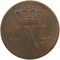 NETHERLANDS 1 CENT 1821 #s12 505