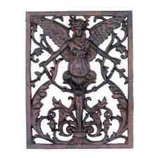 Gorgeous Gothic Style Iron Angel Cherub Wall Sculpture Decor,15.5'H.