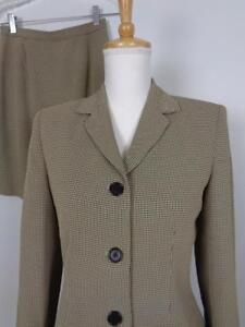 Ann Taylor Wool Blend Skirt Suit Womens sz 6P Blazer 25W 4P Skirt Career Lined