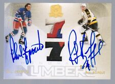 2009-10 Upper Deck The Cup Phil Esposito / Ray Bourque Dual Auto Patch #2/77
