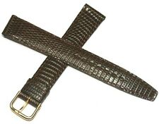 GENUINE REAL LIZARD SKIN WATCH STRAP BROWN 16MM MADE IN FRANCE TOP QUALITY
