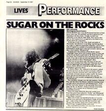 12/9/87pg36 Live Review & Picture, Def Leppard - Nottingham Royal Centre