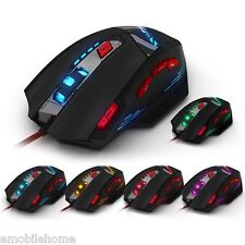 ZELOTES T-90 8 Key Wired USB Optical Gaming Mouse 13 Light Mode 9200DPI