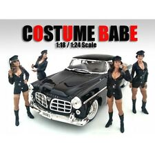 COSTUME BABE - Complete Set of 4- 1/24-G Scale figure/figurine-American Diorama