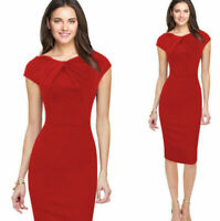 New Elegant Womens OL Formal Business Work Party Sheath Tunic Pencil Mini Dress