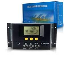 LCD 30A 12V&24V Solar Panel Controller Regulator Charge Battery Safe Protection